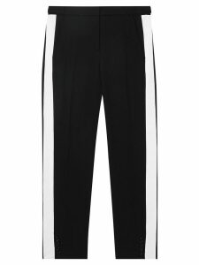Burberry side stripe tailored trousers - Black