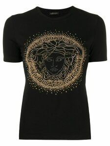 Versace Medusa head studded T-shirt - Black