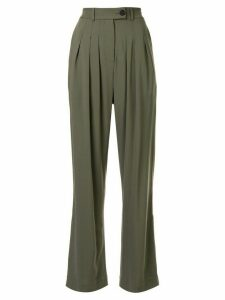 Strateas Carlucci high-waisted pleated trousers - Green