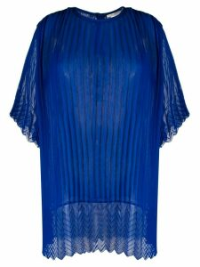 Marco De Vincenzo oversized pleated blouse - Blue
