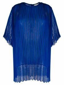 Marco De Vincenzo oversized pleated blouse - Blue