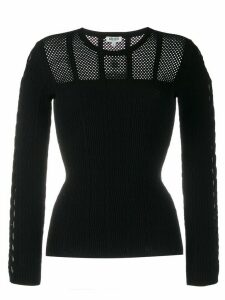Kenzo long-sleeved mesh knit top - Black
