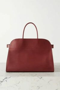 The Row - Margaux 17 Buckled Leather Tote - Burgundy