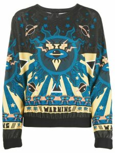 Just Cavalli abstract print sweatshirt - Black