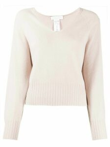 Fabiana Filippi fine knitted v-neck jumper - PINK
