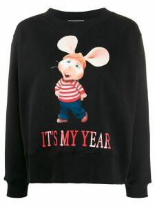 Alberta Ferretti slogan graphic print sweatshirt - Black