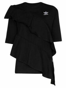 adidas X J KOO x J KOO ruffle trim T-shirt - Black