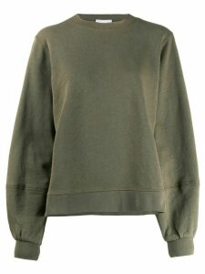 GANNI statement sleeve sweatshirt - Green