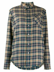 R13 long sleeve plaid pattern shirt - Blue