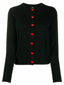 PS Paul Smith Lip button-up cardigan - Black