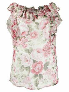 P.A.R.O.S.H. ruffled blouse - Brown