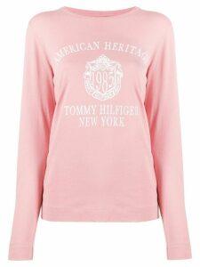 Tommy Hilfiger heritage print T-shirt - PINK