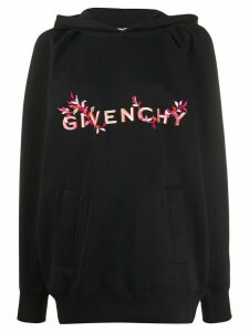 Givenchy embroidered logo hoodie - Black