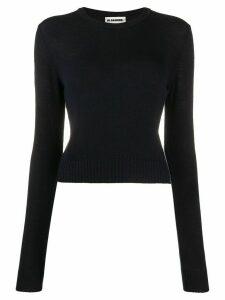 Jil Sander cropped round neck jumper - Blue