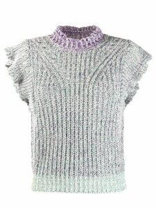 Isabel Marant Étoile ruffle trim knitted top - PURPLE