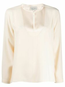 Forte Forte embellished bib blouse - White