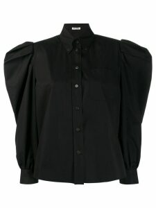 Miu Miu ruched sleeve blouse - Black