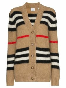 Burberry Icon Stripe knit cardigan - Brown
