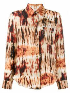 Nanushka tie-dye print shirt - ORANGE