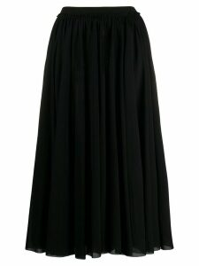 Jil Sander pleated maxi skirt - Black