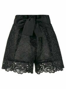 Ermanno Scervino paperbag waist shorts - Black