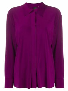 Norma Kamali concealed-fastening shirt - PURPLE