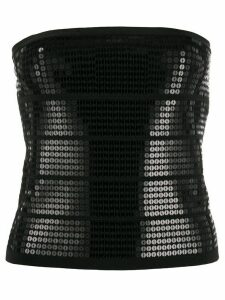 Twin-Set sequin-embroidered tube top - Black