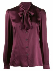 Dolce & Gabbana satin tied blouse - PURPLE