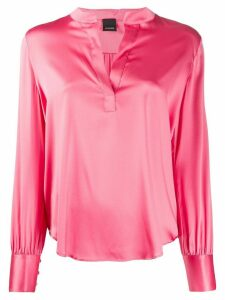 Pinko split neck loose-fit shirt