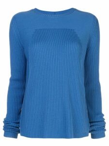 Rick Owens ribbed knit round neck jumper - Blue
