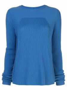 Rick Owens ribbed knit round neck jumper - Blue