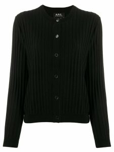 A.P.C. ribbed slim-fit cardigan - Black