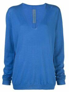 Rick Owens slouchy V-neck jumper - Blue