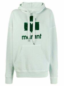 Isabel Marant Étoile distressed-logo print hoodie - Green