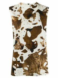 Golden Goose animal print tank top - NEUTRALS