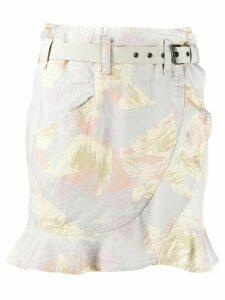 Isabel Marant Étoile brushstroke print skirt - Grey