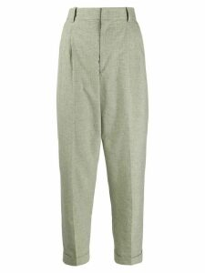 Isabel Marant Étoile houndstooth tailored trousers - Green