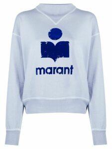 Isabel Marant Étoile logo print jumper - Blue