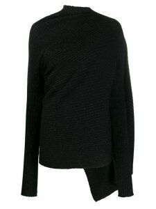 Marques'Almeida asymmetric draped jumper - Black