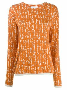 Christian Wijnants jacquard long-sleeve jumper - ORANGE