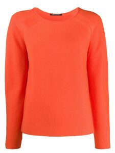 Luisa Cerano fine knit raglan sleeve jumper - ORANGE