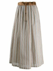 Peserico striped pleated skirt - White