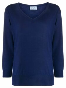 Prada cropped sleeves jumper - Blue