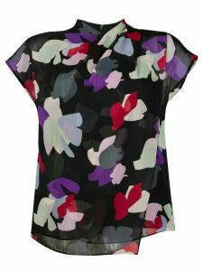 Emporio Armani layered floral print T-shirt - Black