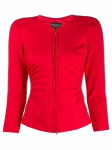 Emporio Armani ruched stretch fit jacket - Red