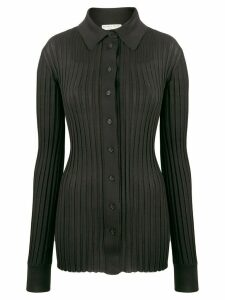 Bottega Veneta ribbed buttoned jumper - Black