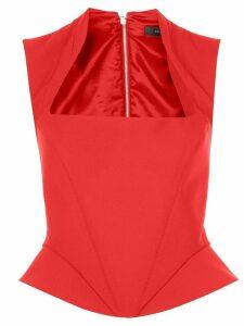 Mugler corset top - Red