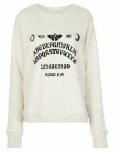 The Elder Statesman ouija jumper - White