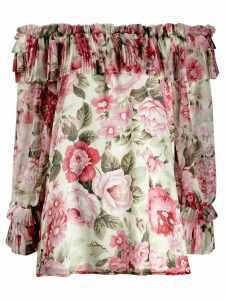 P.A.R.O.S.H. rose print blouse - PINK