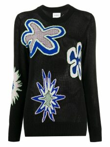 Barrie floral intarsia-knit jumper - Black